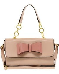 Asos Bow Chain Handle Across Body Bag pink - Lyst