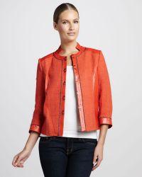 Bagatelle Tweedtextured Leather Jacket - Lyst