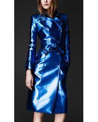 Burberry Prorsum - Bright Metallic Trench Coat - Lyst