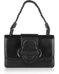 Valentino Braiddetailed Leather Shoulder Bag - Lyst