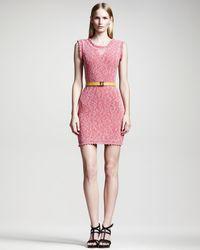 Fendi Metallic Knit Dress - Lyst
