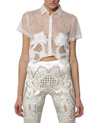 Ktz Embroidered Techno Lace Shirt - Lyst