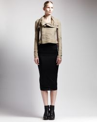 Rick Owens Long Tube Skirt - Lyst