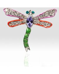 Jay Strongwater Dragonfly Pin - Lyst