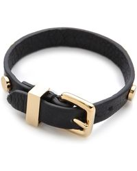 Marc By Marc Jacobs - Turnlock Charm Leather Bracelet - Lyst