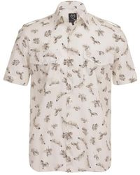 McQ by Alexander McQueen Skeleton Fly Military Short-sleeve Shirt - Lyst
