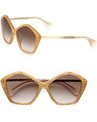 2d26b04db5f Miu Miu - Star Metal Acetate Sunglasses - Lyst