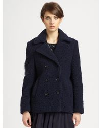 Surface To Air - Doublebreasted Wool Coat - Lyst