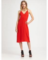 T By Alexander Wang Silk Vback Dress - Lyst