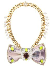 Bijoux De Famille - Colaba Leather and Brass Necklace - Lyst