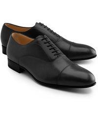 Brooks Brothers Lightweight Leather Straight Captoe Bals - Lyst
