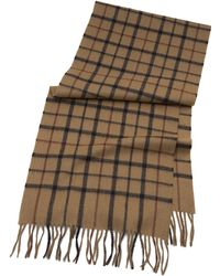 Brooks Brothers Tattersall Camel Hair Scarf - Lyst