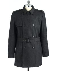 Calvin Klein Doublebreasted Trench Coat - Lyst