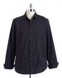 DKNY Long Sleeved Cotton Button Down Shirt - Lyst
