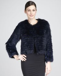 Tasha Tarno - Striped Fox Jacket - Lyst
