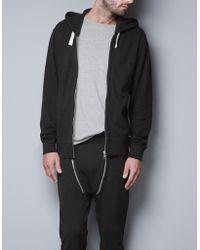 Zara Hooded Open Sweater - Lyst