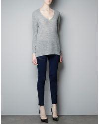 Zara Moss Stitch Sweater - Lyst