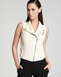 Theory Vest Zida Leather - Lyst