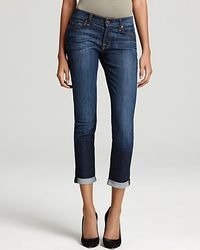 7 For All Mankind  Crop Roll Skinny Jeans - Lyst