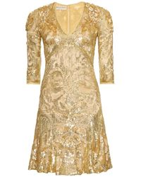 Emilio Pucci Beaded and Sequined Dress - Lyst