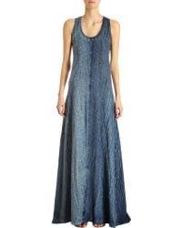 Gilda Midani | Long Shibori Dyed Trapeze Tank Dress | Lyst