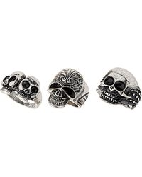Topshop Mix Skull Ring Pack - Lyst