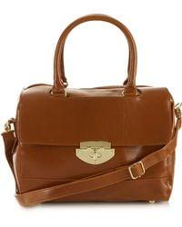 Topshop Clean Bowling Bag brown - Lyst