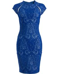 Yigal Azrouel Paisley Jacquard Dress - Lyst