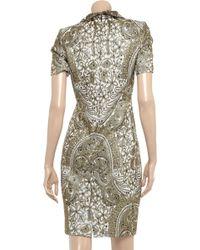 Zac Posen Brocade Dress gold - Lyst