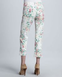 Not Your Daughter's Jeans - Painted Bouquet Kendall Cuffed Ankle Pants - Lyst