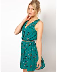 Oasis Exclusive Marble Print Dress - Lyst