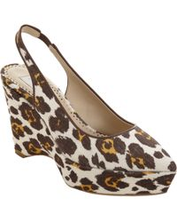 Stella McCartney Sling Back Platform Wedge Pump - Lyst