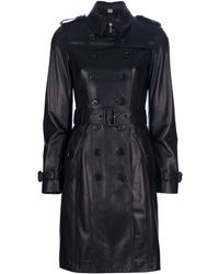 Burberry Belted Trench Coat black - Lyst