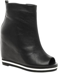 Asos Asos Athlete Wedge Ankle Boots - Lyst
