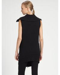Donna Karan New York Boiled Cashmere Vest - Lyst