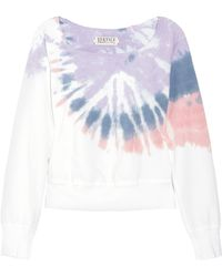Textile Elizabeth and James - Tie-dye Cotton Sweatshirt - Lyst