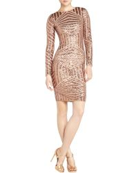 BCBGMAXAZRIA Leondra Sequin Dropback Dress - Lyst