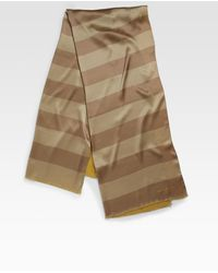 Burberry Silk Striped Scarf - Lyst