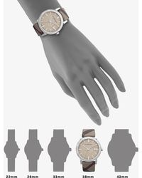 Burberry Round Polished Stainless Steel Check-Strap Watch - Lyst