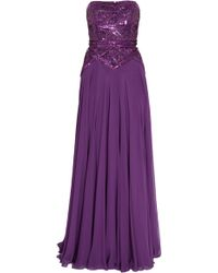Elie Saab Strapless 12 Beaded Gown - Lyst