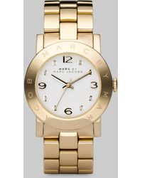 Marc By Marc Jacobs Amy Goldtone Stainless Steel Bracelet Watch - Lyst