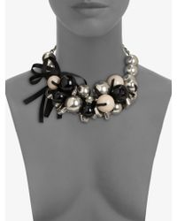 Marc By Marc Jacobs Bead Bolt Ribbon Cluster Necklace - Lyst