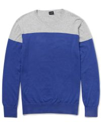 PS by Paul Smith Two-tone Cotton Sweater - Lyst