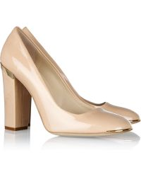Stella McCartney Faux Patent Leather Pumps - Lyst