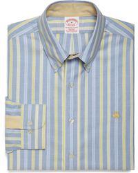 Brooks Brothers Non Iron Regular Fit Alternating Framed Triple Stripe Sport Shirt - Lyst