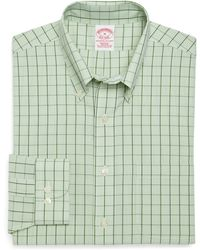 Brooks Brothers Supima Cotton Non Iron Regular Fit Gingham with Over Check Sport Shirt - Lyst