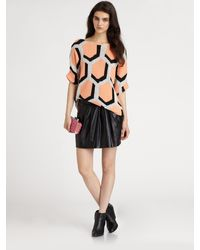 Diane Von Furstenberg Jan Leather Skirt - Lyst