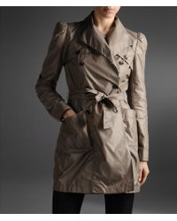 Emporio Armani Trench in Waterproof Technical Fabric - Lyst
