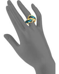 Kara Ross - Python Skin Wrap Ring - Lyst