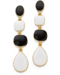 Kenneth Jay Lane Enamel Drop Earrings - Lyst
